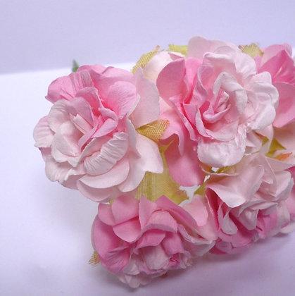 Paper Ruffled Roses :: Pink