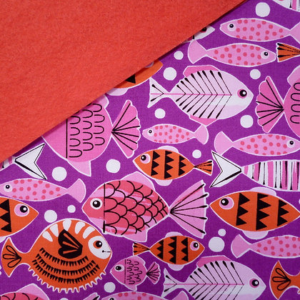 Fabric Felt :: Pets A Plenty Coral Fish on Coral