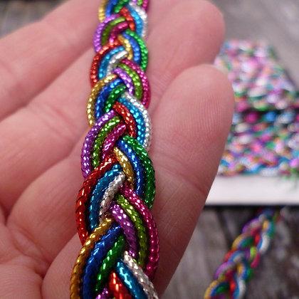 Rainbow Braid Metallic Trim