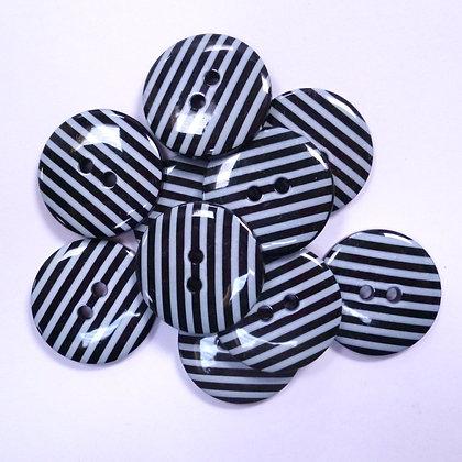 Large Stripe Button :: Black