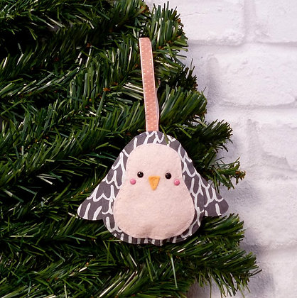 Charcoal Penguin :: Icy Pastel Christmas :: made to order
