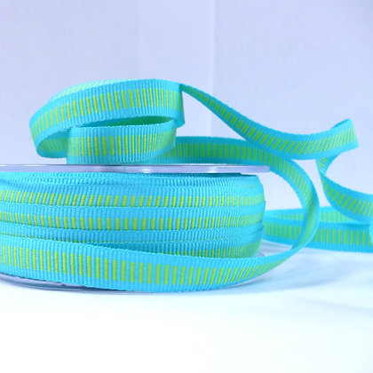 Centre Stitch Ribbon :: Turquoise & Lime