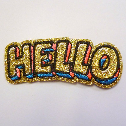 Embroidered Motif :: Glittery Hello