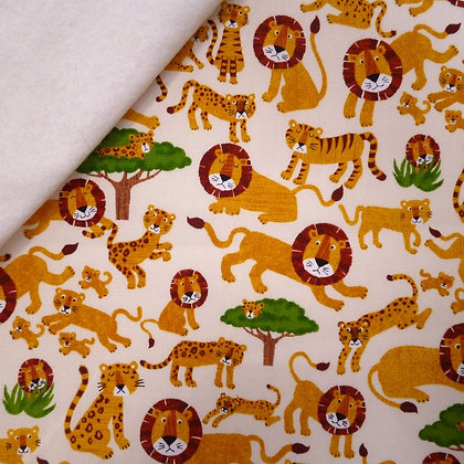 Fabric Felt :: Lions & Tigers on Natural