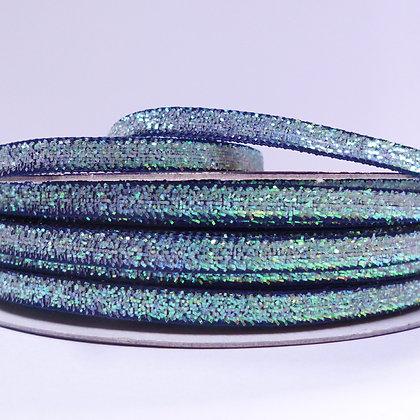5mm Glitter Velvet Ribbon :: Navy