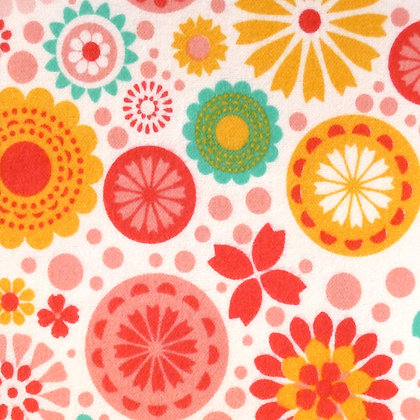 Fabric :: So Happy Together :: Flannel Flowers