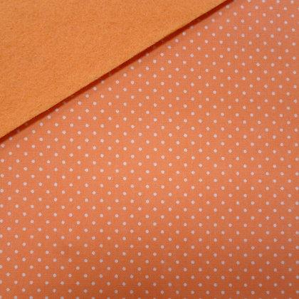 Fabric Felt :: Peach Wide Pin Dot on Peach LAST FEW