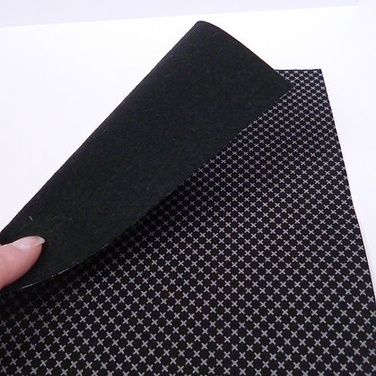 Fabric Felt :: Grey Crosses & Black