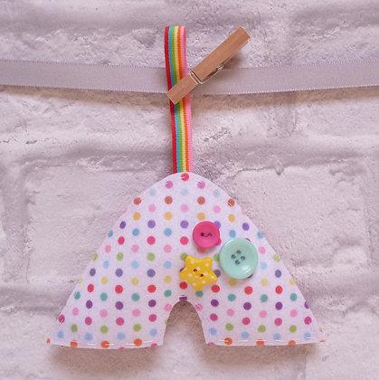 Handmade :: Rainbow :: Dot + Rainbow ribbon