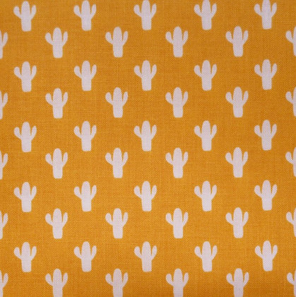 Fabric :: Azure Skies :: Mustard Cactus