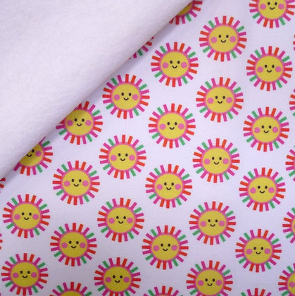 Artisan Fabric Felt :: Happy Sunshine on White