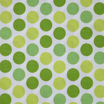 SALE Fabric :: Santa Express :: Green Dots