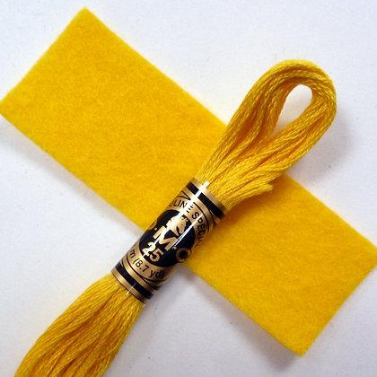 DMC Embroidery Thread :: Yellow (973)