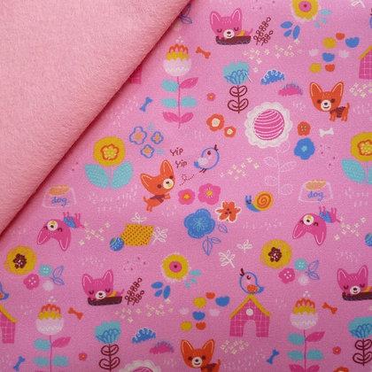 Artisan Fabric Felt :: Little Chihuahua on Baby Pink