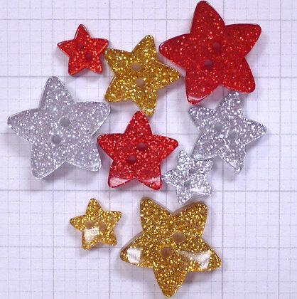Glitter Buttons :: STARS