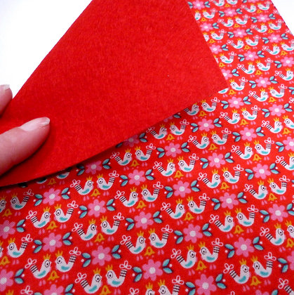 Fabric Felt :: V.K. Red Birds & Red