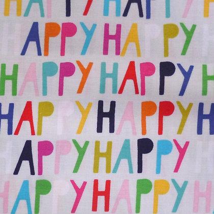 Fabric :: Happy! :: Grey Words
