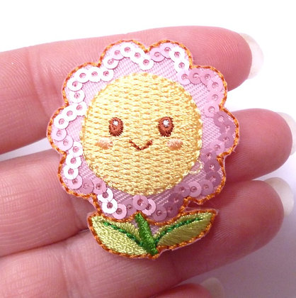 Embroidered Motif :: Happy Flower Sequins