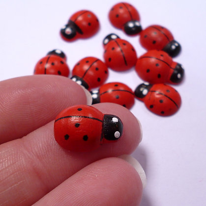 Wooden Ladybirds - Large