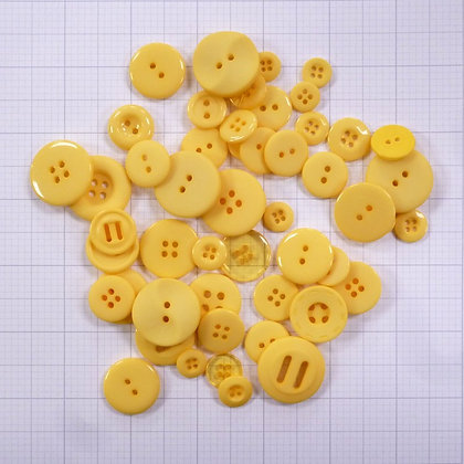 Dyed Buttons By Weight :: Yellow