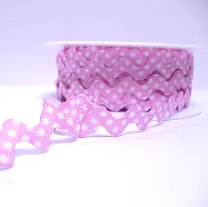 Polka Dot Ric Rac :: Pale Pink