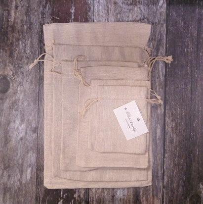 Drawstring Jute Bag  :: Natural