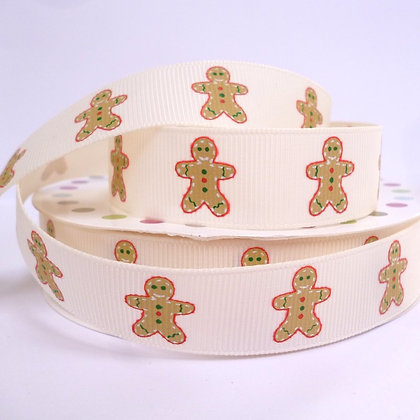 Christmas Grosgrain Ribbon :: Gingerbread Natural