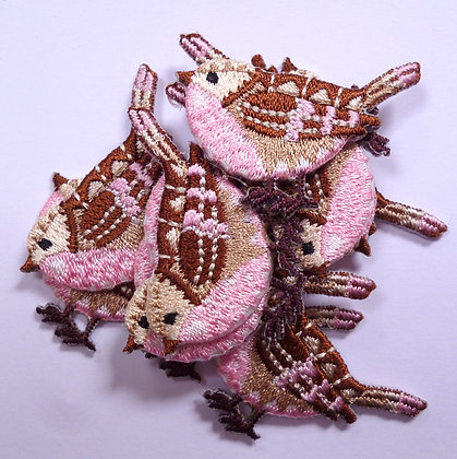 Embroidered Motif :: Pink Bird
