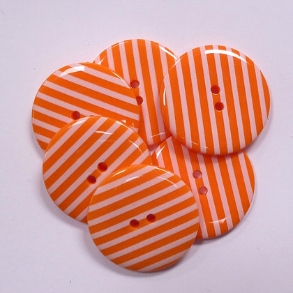 XL Stripe Button :: Orange