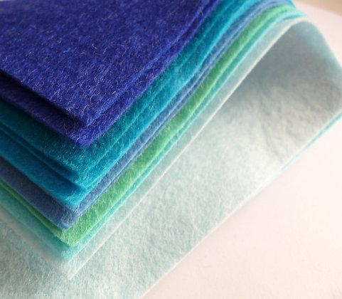 BLUES Premium Wool Felt Colour Pack
