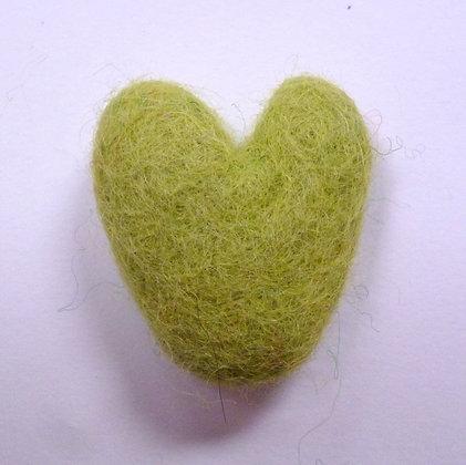 Felt Hearts 100% Wool :: Lime
