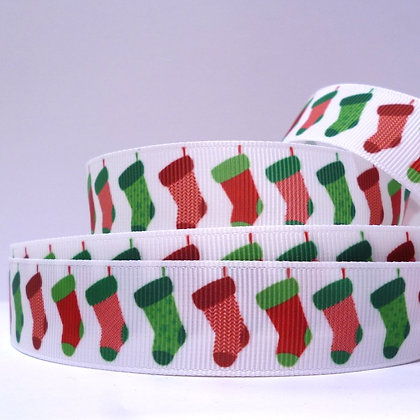 Christmas Grosgrain Ribbon :: Stockings