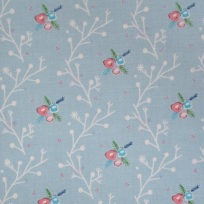 Fabric :: A Winter Tale :: Branches Blue