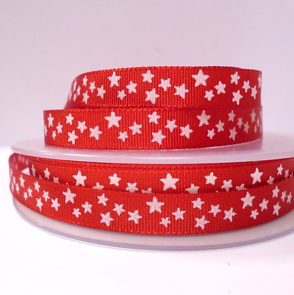 Double Sided Star Ribbon :: Red
