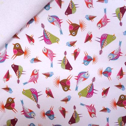 Fabric Felt :: Stitch Birds :: Birds White on White