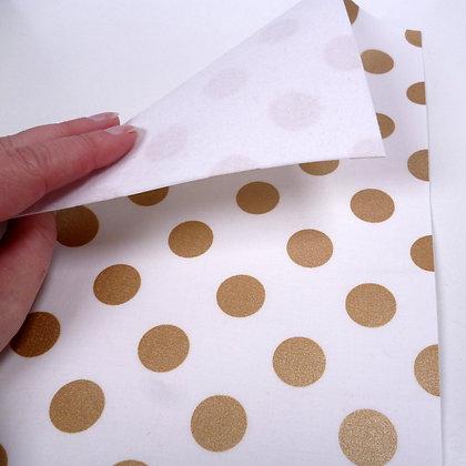 Fabric Felt :: Gold Quarter Dot & White