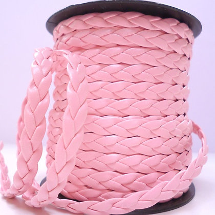 Faux Leather Plait :: Pink