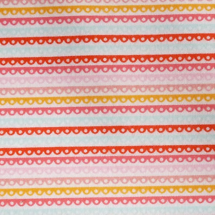 Fabric :: Girl Crazy :: Flannel Pink Scallop