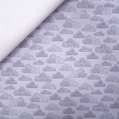 Fabric Felt :: Jungle Fever :: Grey Clouds on White