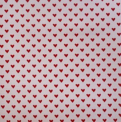 Fabric :: Hello Sweetheart :: Mini Red Hearts on Cream