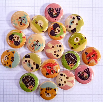 Wooden Button Pack :: Kawaii On Wood