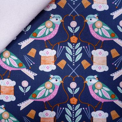 Fabric Felt :: Stitches :: Sewing Birds on White