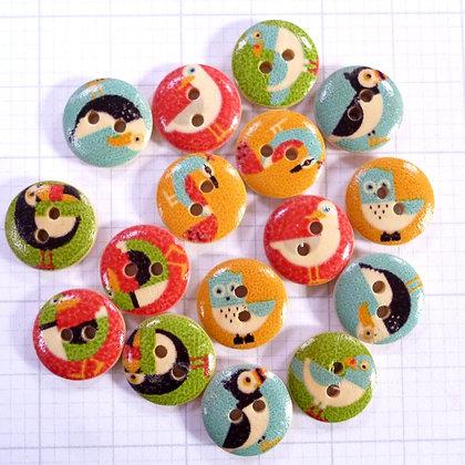 Wooden Button Pack :: Birds