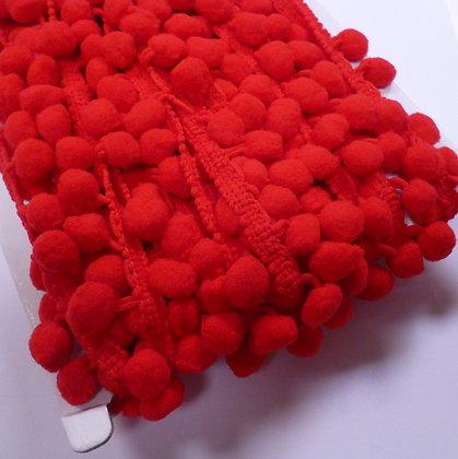 Large Pom Pom Trim :: Red