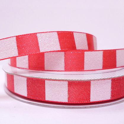 Sparkle Ribbon :: Red & White Blocks