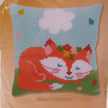 Printed Canvas Cushion Kit :: Sleeping Fox