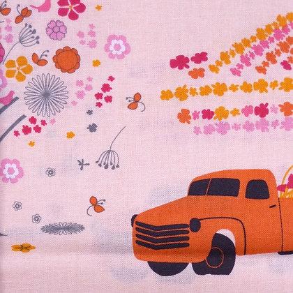 Fabric :: Chevy Truck & Donkey