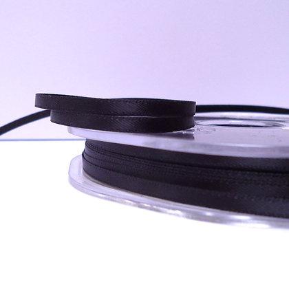 Black :: 3mm Mini Satin Ribbon :: 5m