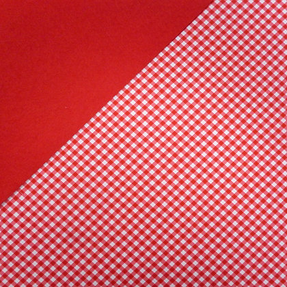 Fabric Felt :: Red Diagonal Gingham on Red