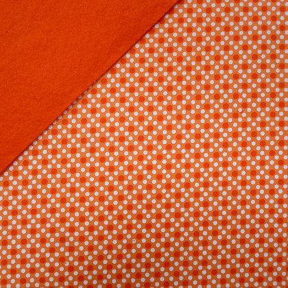 Fabric Felt :: Orange Dim Dot on Satsuma LAST FEW